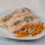 salmon in Salsa verde